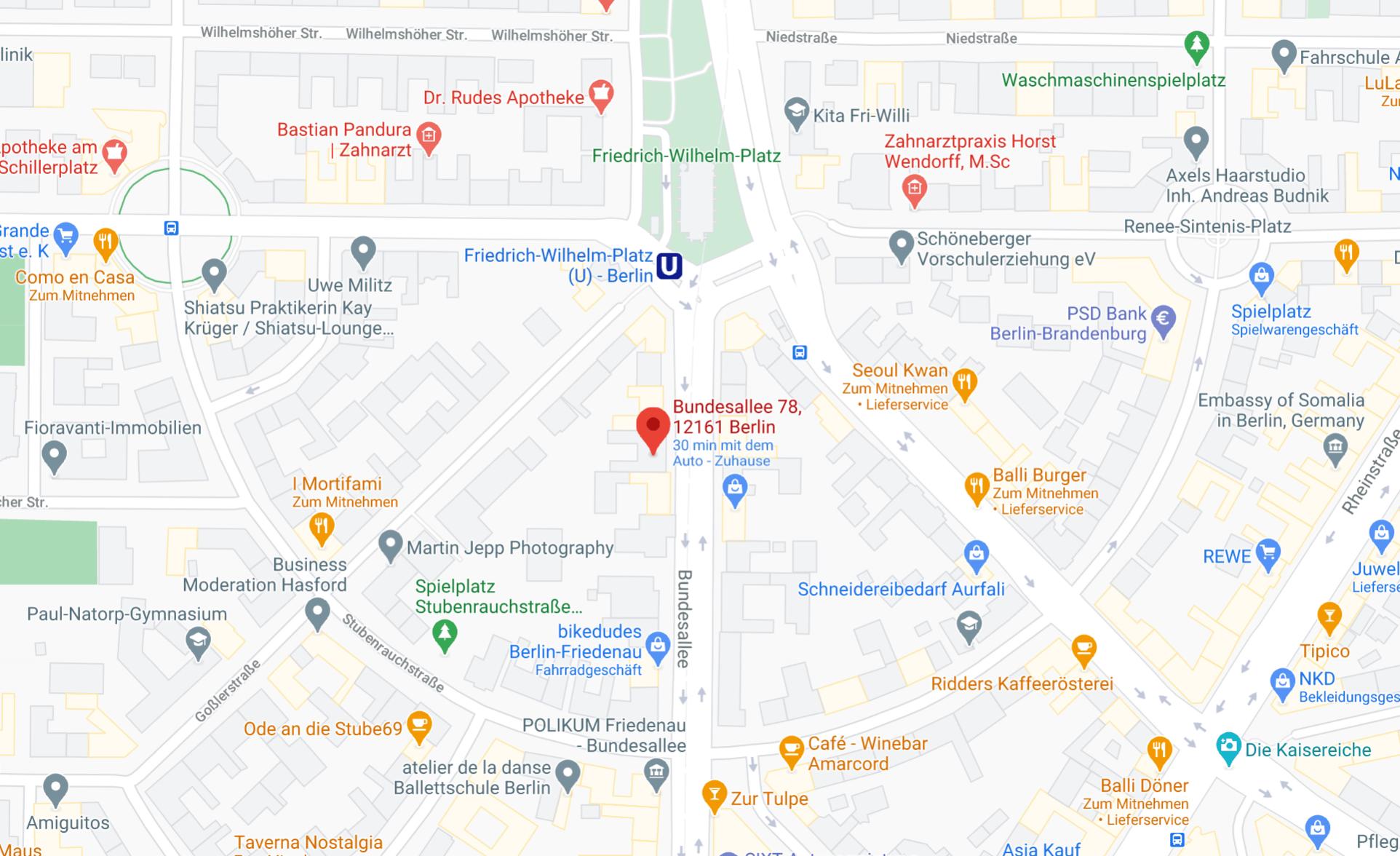 corona test berlin map