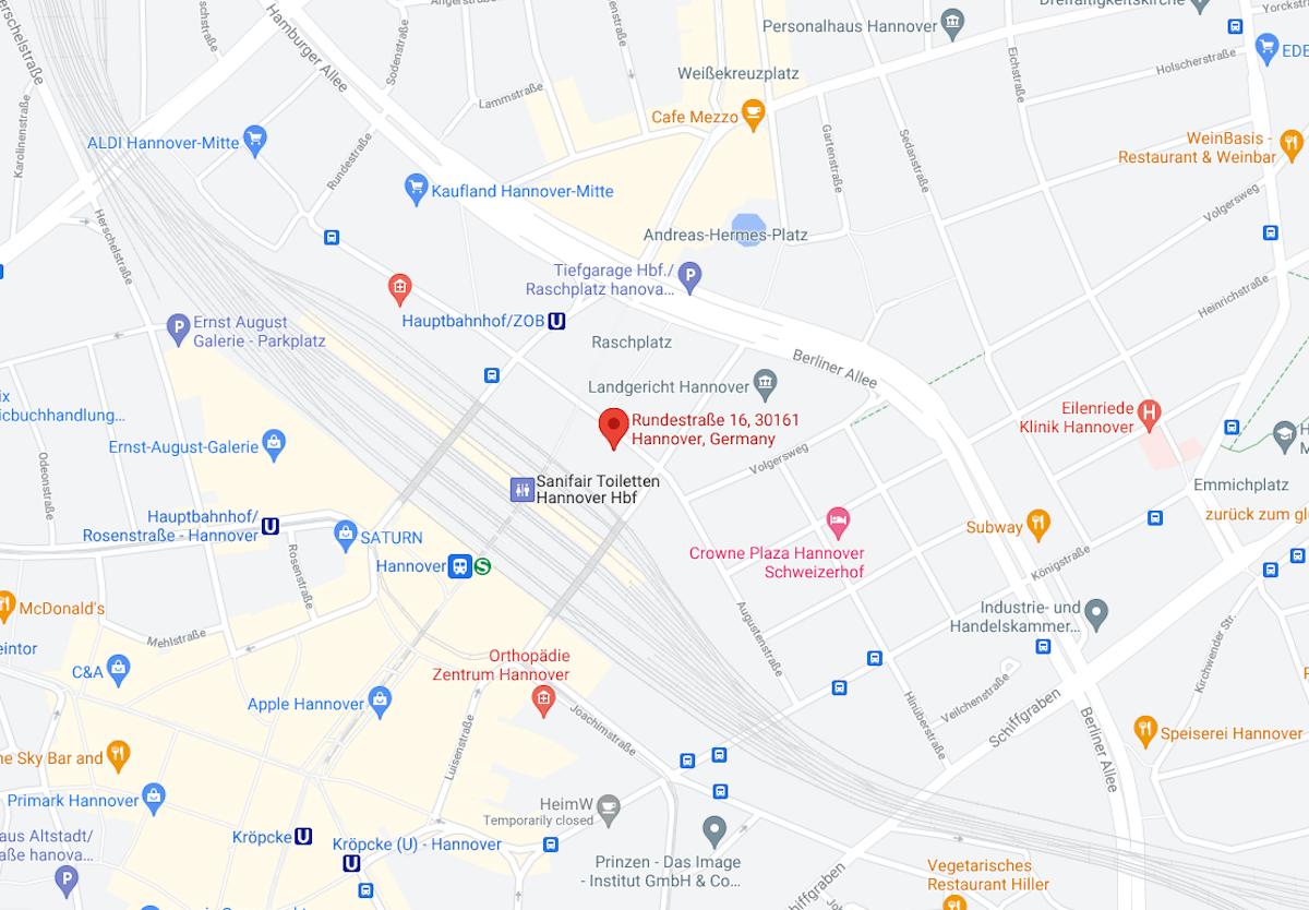 Coronatest am Rathaus Hamburg Karte maps