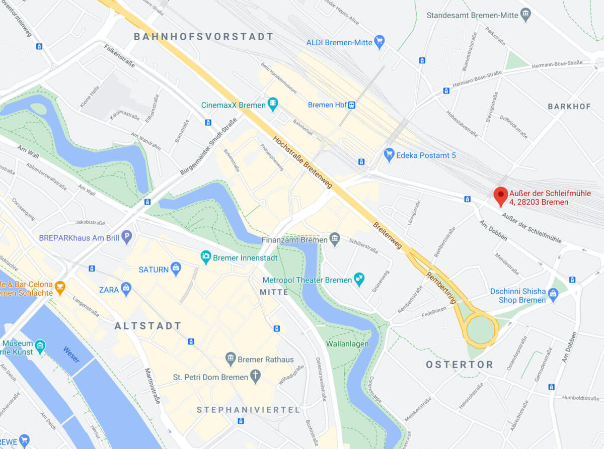 Coronatest Bremen am Hauptbahnhof Karte