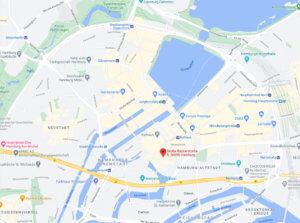 PCR test Hamburg map